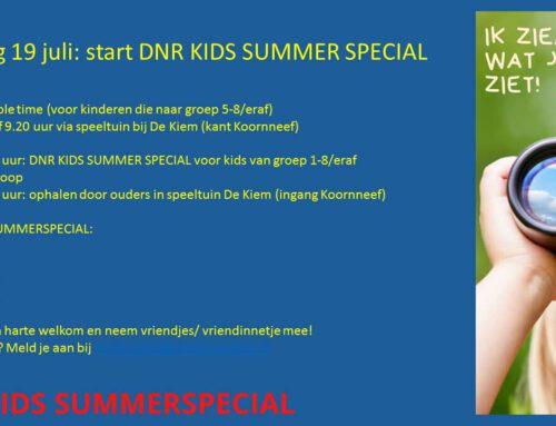DNR KIDS SUMMER SPECIAL start op 19 juli 2020