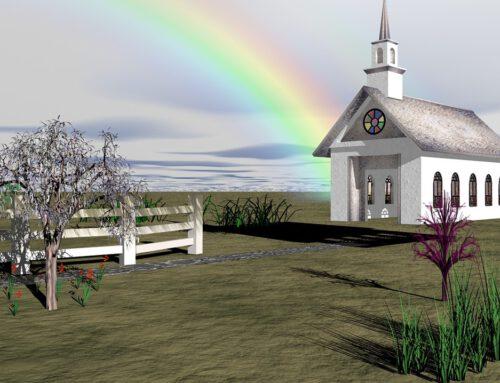 De regenboog van kerken in 's- Gravenzande